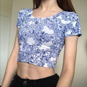 American Apparel size XS floral croptop!!